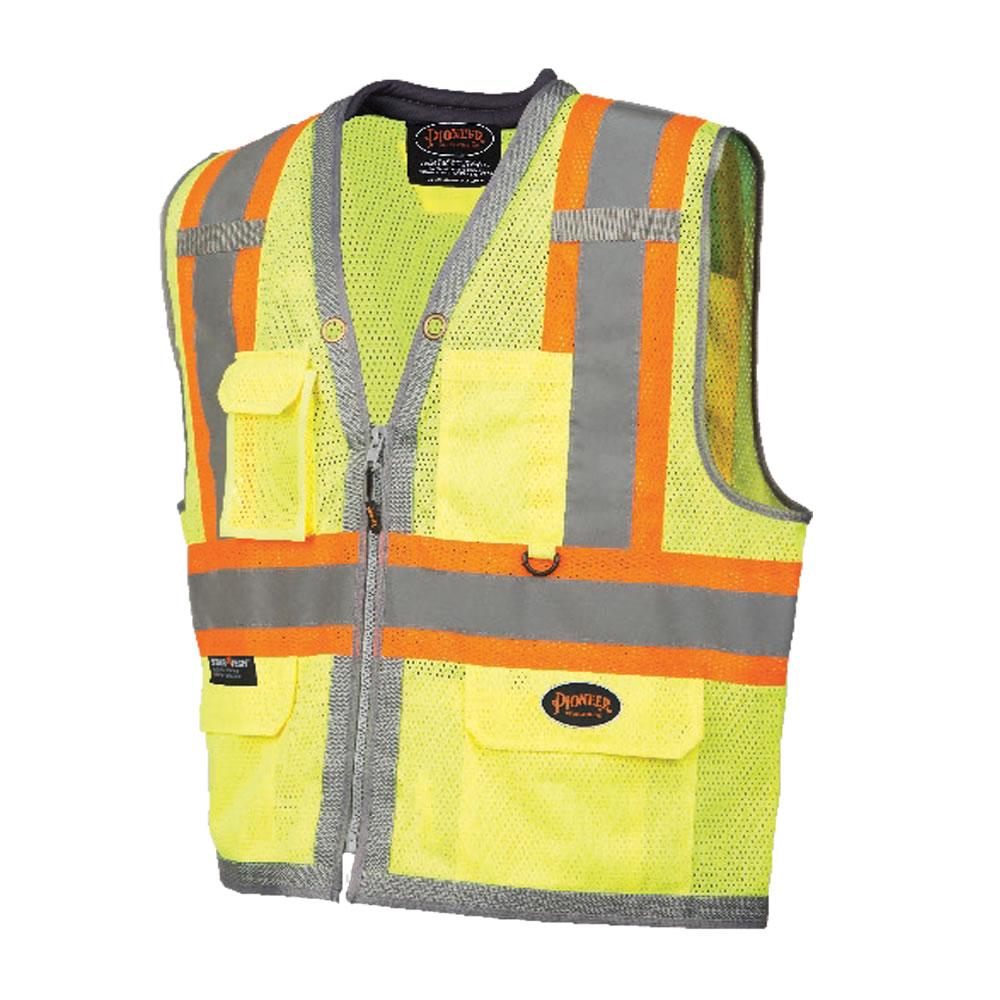 Full Mesh Surveyor Vest with Padded Collar Yellow